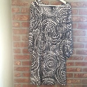 international Concepts black and White dress EUC